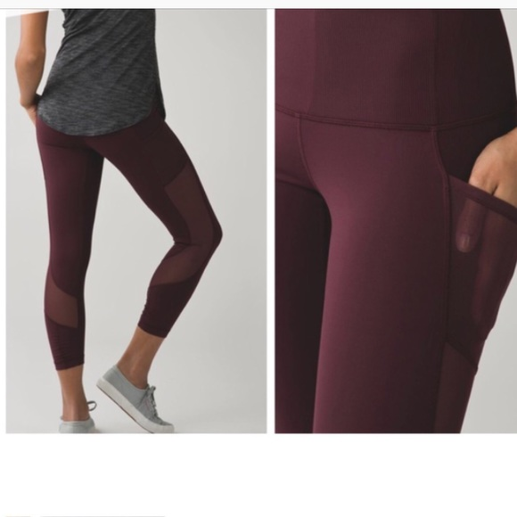 cb63f4c3725b9 lululemon athletica Pants | Lululemon Seek The Heat Crops Size 6 ...
